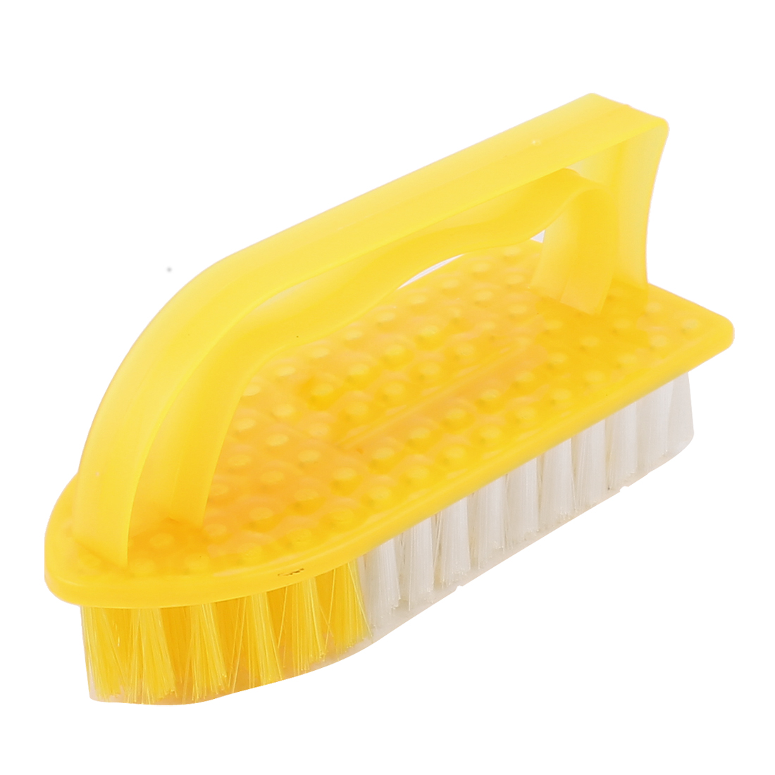 Plastic Housing Clothes Shoes Floor Cleaning Washing Scrubbing Scrub Brush Yellow