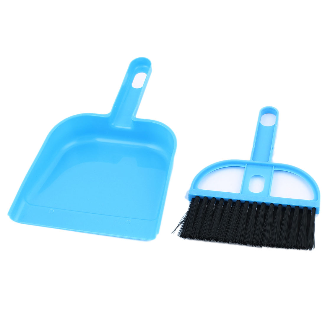 Car Internal Cleaner Tool Keyboard Air Outlet Vent Cleaning Brush Dustpan Blue 4 Sets