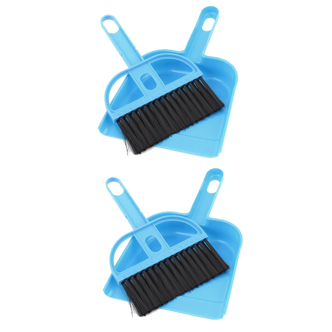 Keyboard Air Outlet Vent Cleaner Sweeping Brush Dustpan Blue 2 Sets
