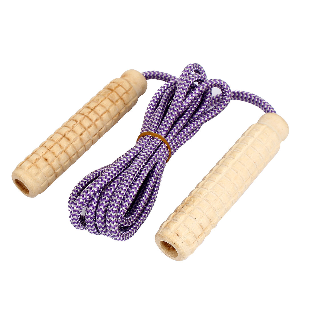 Wooden Handle Exercise Fitness Training Adjustable Skipping Jump Rope Purple