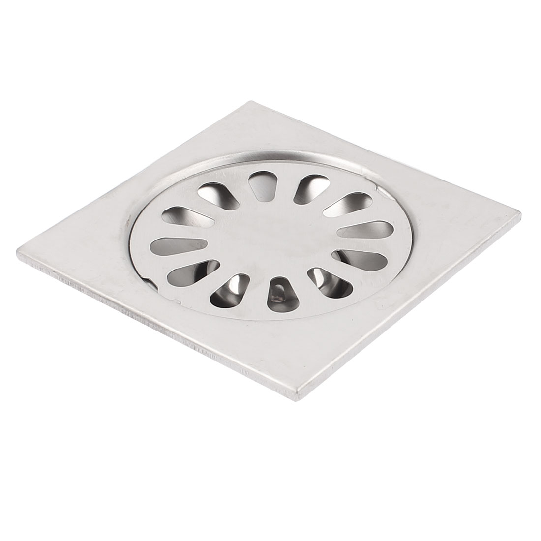 Kitchen Bathroom Shower Stainless Steel Square Shape Sink Floor Drain Hole Cover Waste Grate Strainer