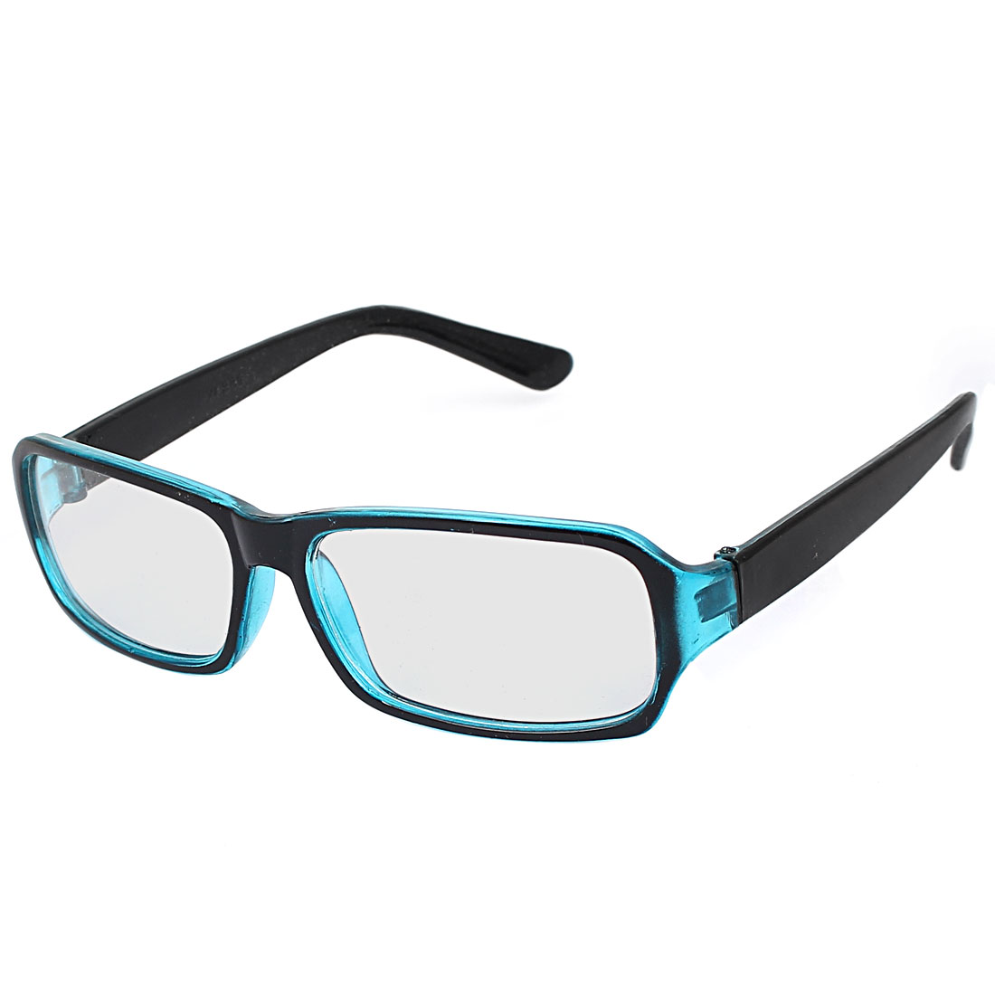 Unisex Square Lens Full Frame Eyewear Plain Plano Glasses Spectacles Black Blue