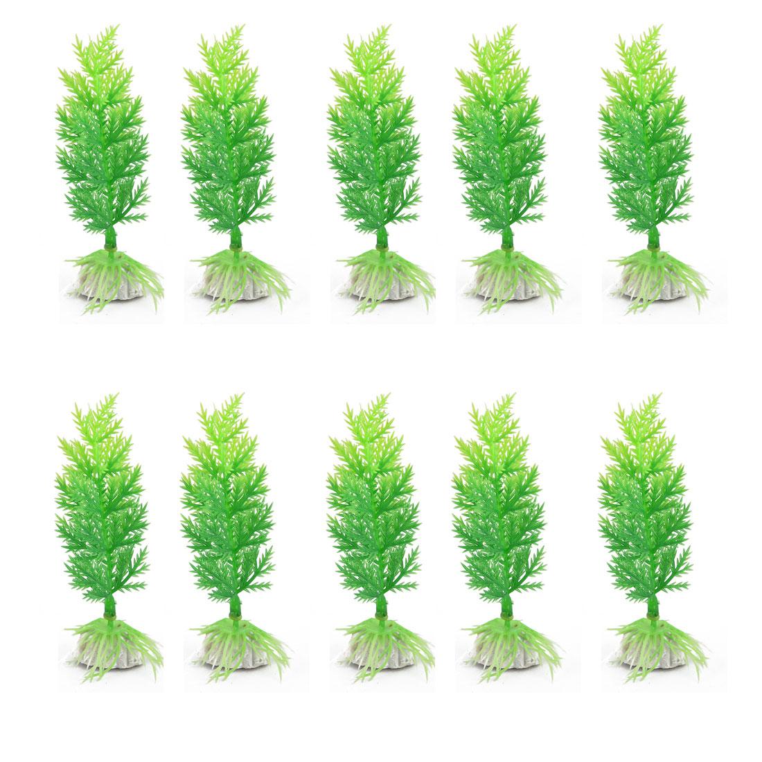 Fish Bowl Tank Landscape Artificial Aquatic Plant Grass 5 Inch Height 10pcs