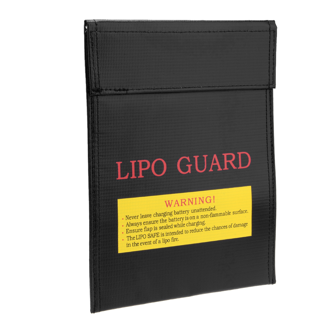 Lipo Battery Fireproof Explosionproof Bag Storage Guard Safe Charging Holder 18cm x 23cm Black