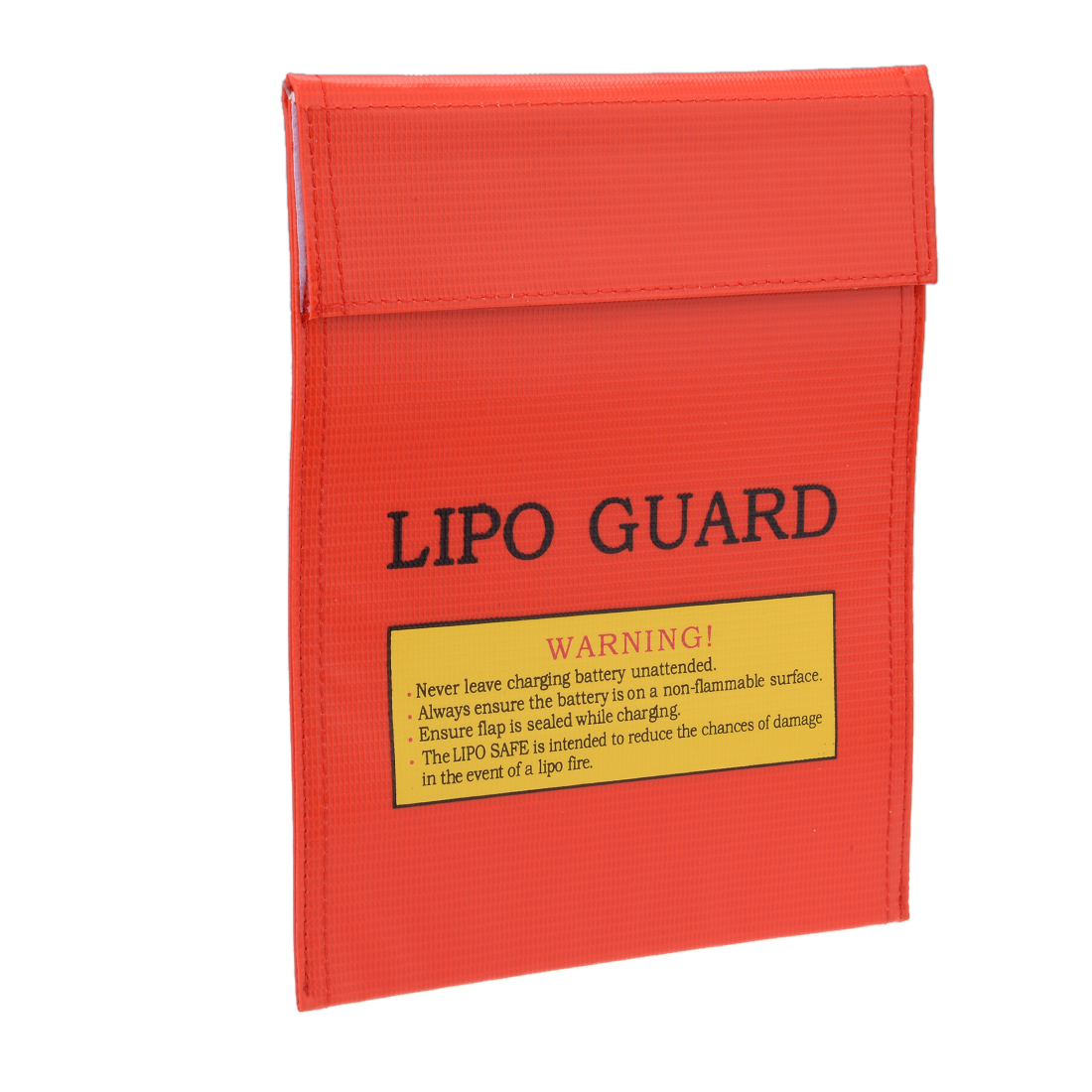 Lipo Battery Fireproof Explosionproof Bag Storage Guard Safe Charging Holder 18cm x 23cm Red