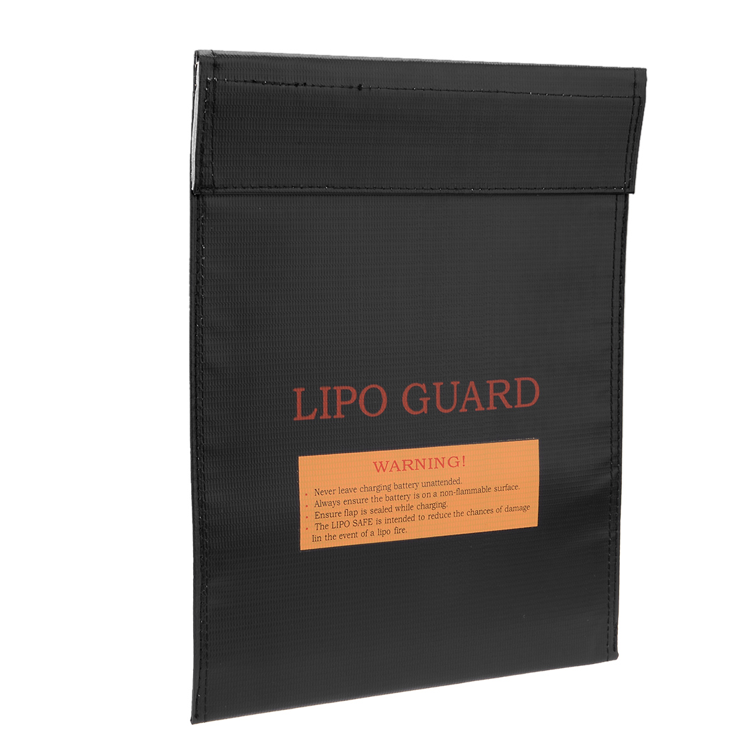 Lipo Battery Fireproof Explosionproof Bag Storage Guard Safe Charging Holder 23cm x 30cm Black