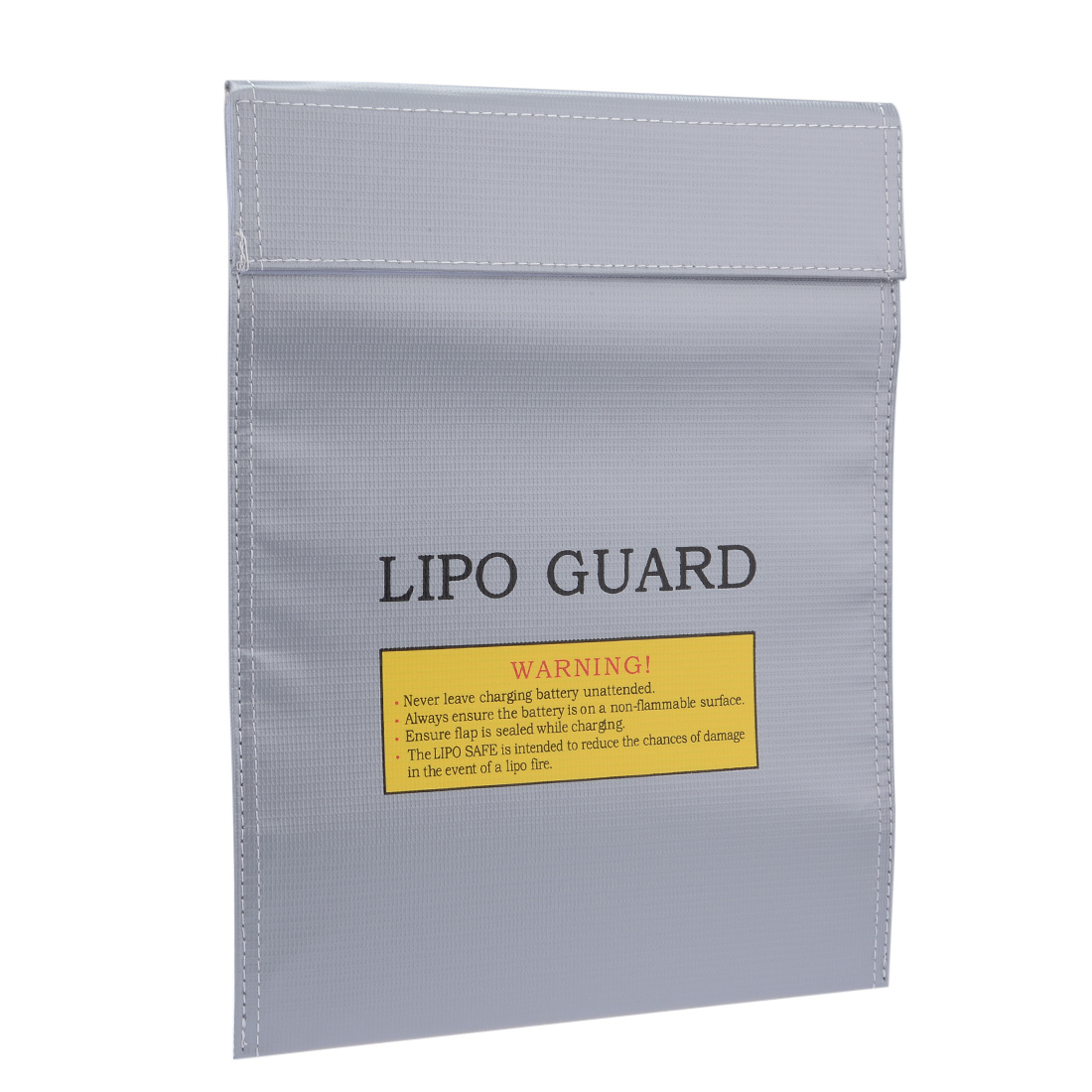 Lipo Battery Fireproof Explosionproof Bag Storage Guard Safe Charging Holder 23cm x 30cm Silver Tone