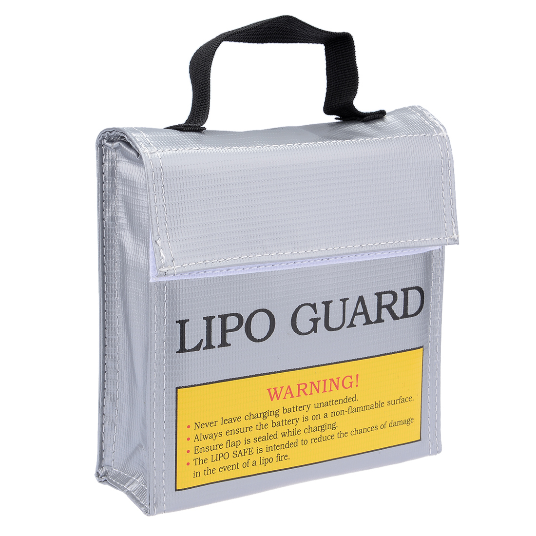 Lipo Battery Fireproof Explosionproof Bag Storage Guard Safe Charging Holder 155mm x 50mm x 155mm