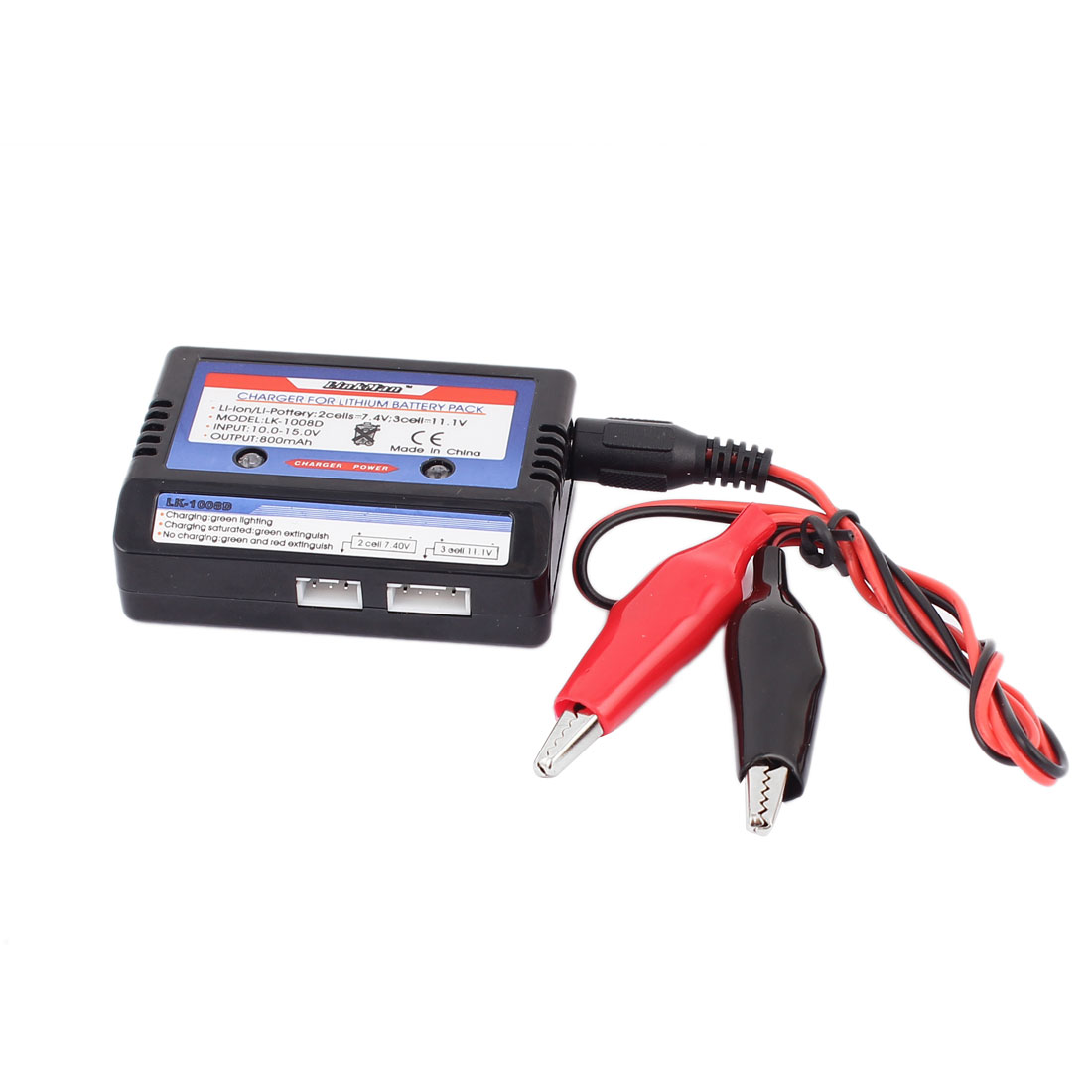 7.4V 11.1V 2-3 Cells 2S 3S RC LiPo Li-Poly Battery Safe DC Charger Balance Charging