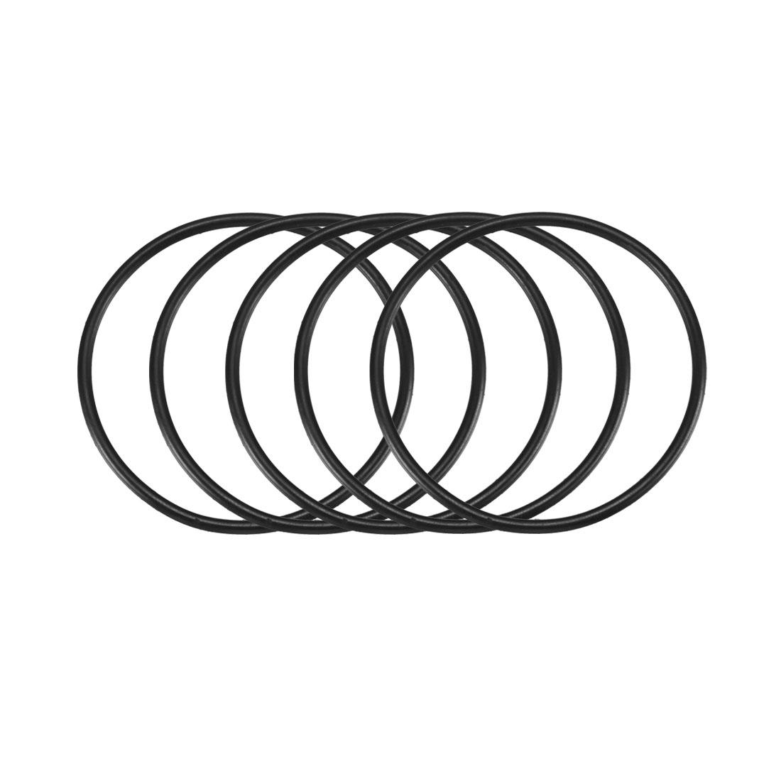 25 Pcs Black Nitrile Rubber Grommets Oil Sealings Gaskets Washers O Rings 55mm x 2.5mm x 50mm