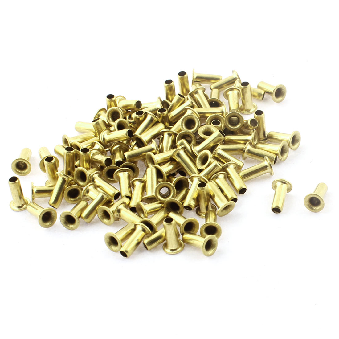 120pcs M3 x 8mm Copper Through Hole Hollow Rivets Grommets Double-sided Circuit Board PCB Via Vias Nails Fastener