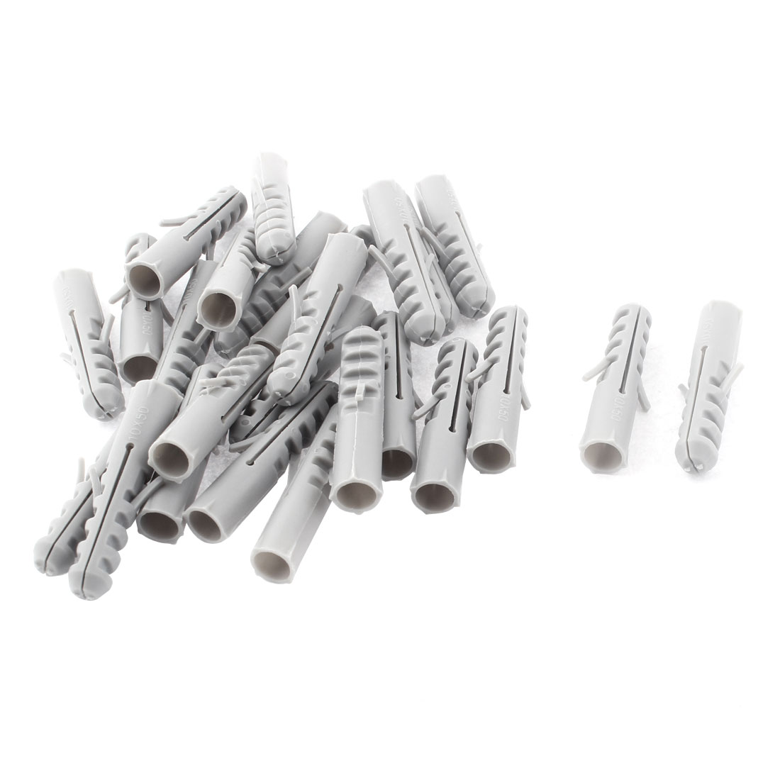 25 Pcs M10 x 50mm Plastic Anchors Lag Expand Expansion Nails Plugs Wall Screws Cable Clips