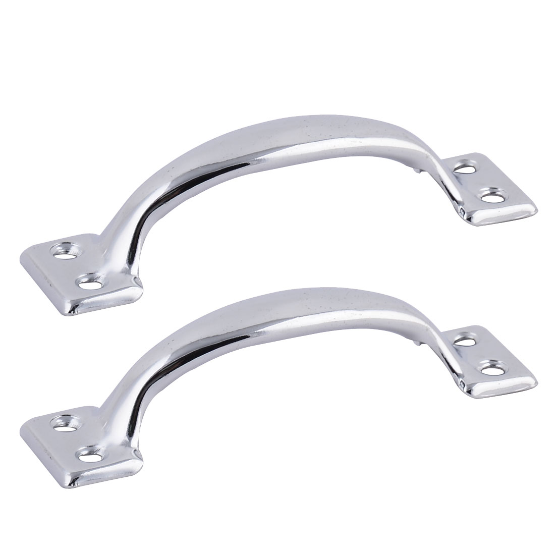 Cabinet Door Cupboard Chest Drawer 10.2cm Length Pull Handle Knob Silver Tone 2 PCS