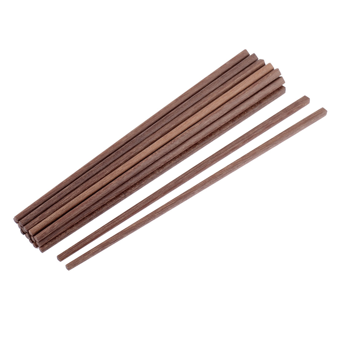 "Kitchen Chinese Eco-friendly Wooden Chopsticks 10"" Length Brown 10 Pairs"