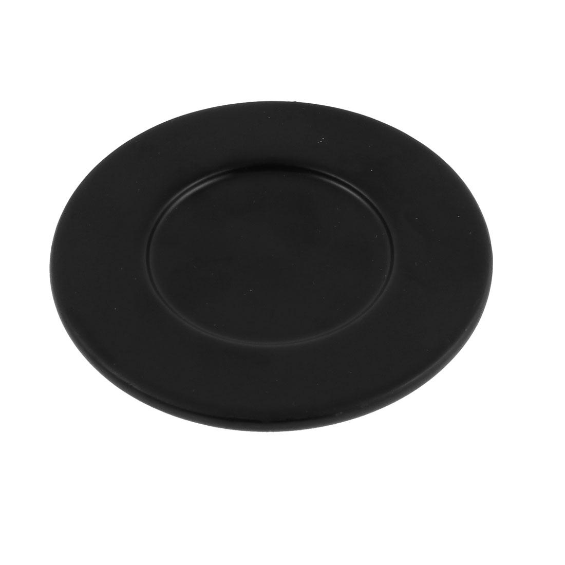 """Plastic Round Heat Resistant Cup Mat Coaster Pad 4"""" Dia Black"""