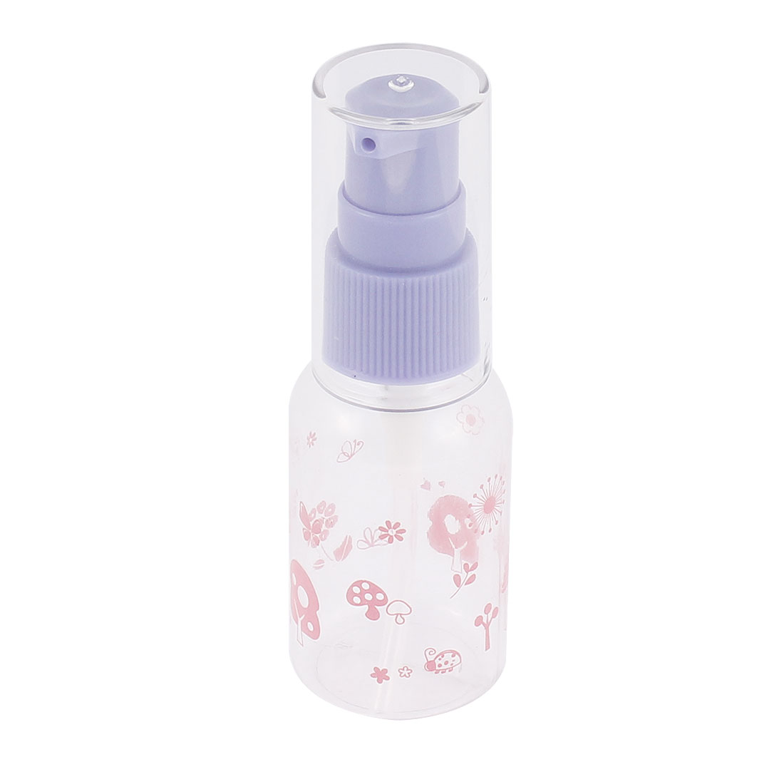 Plastic Floral Pattern Cosmetic Liquid Holder Spray Bottle 30ml Purple