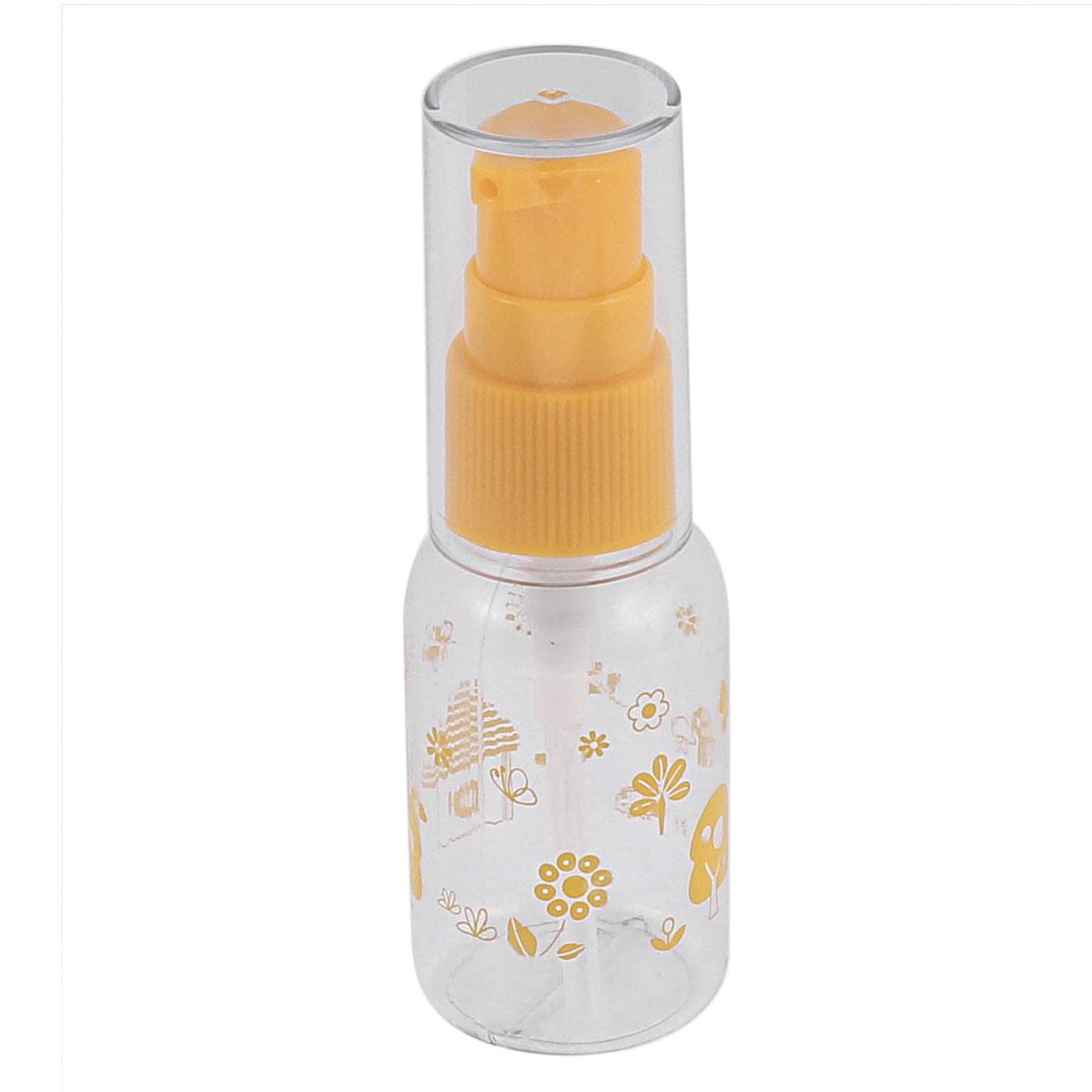 Traveling Flower Pattern Cosmetic Liquid Spray Bottle 30ml Orange