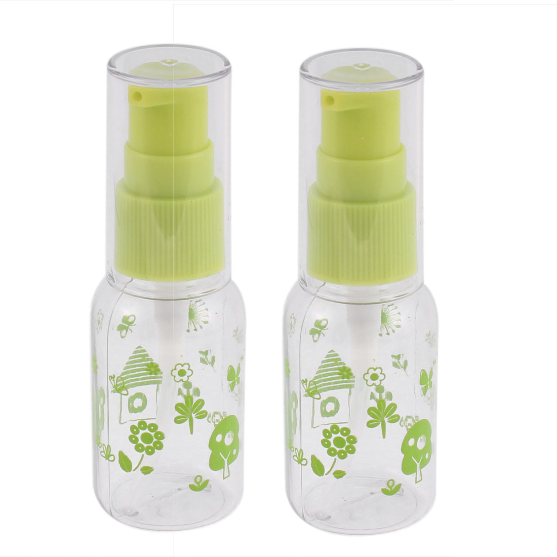 Cosmetic Perfume Liquid Container Spray Bottles 30ml Lime Clear 2pcs