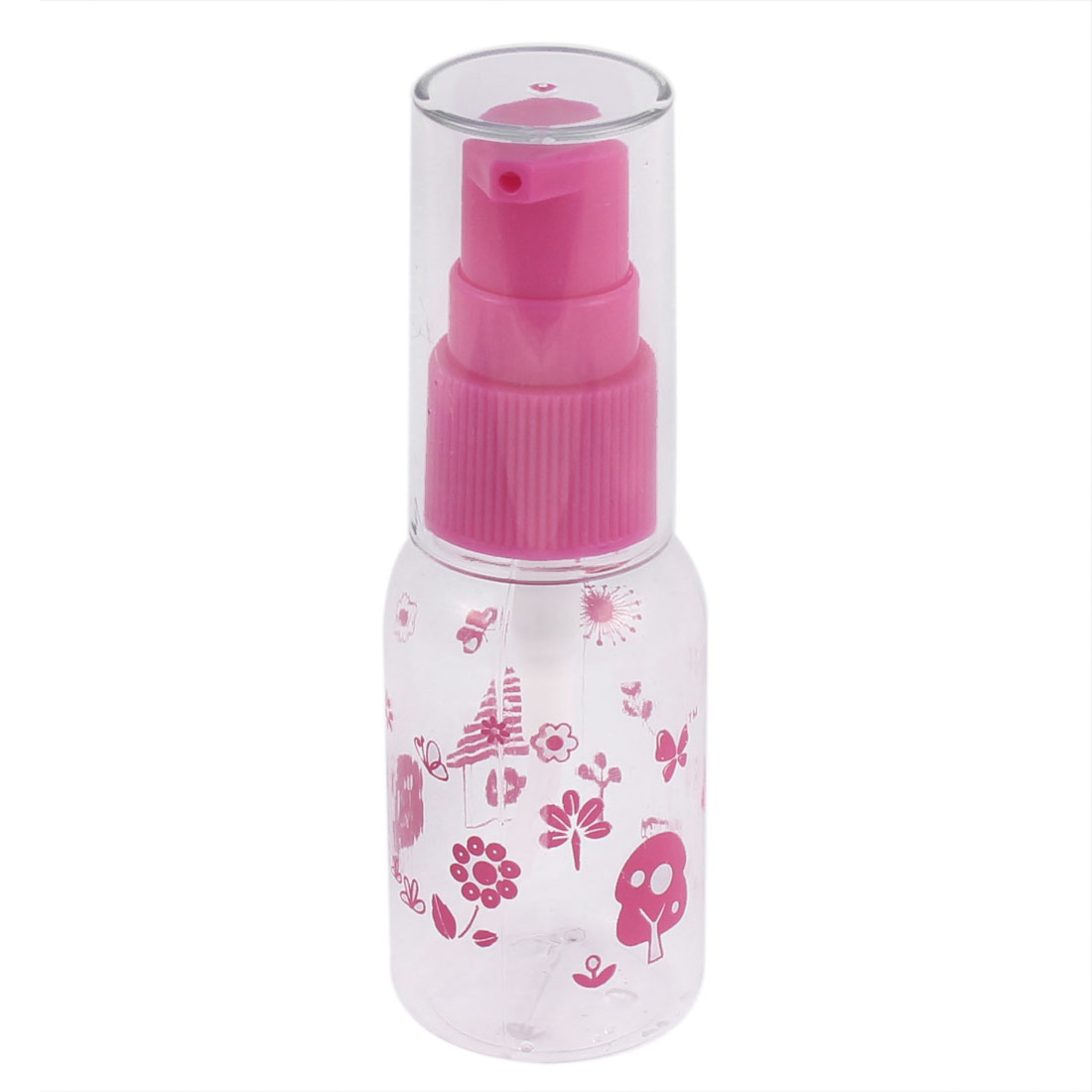 Traveling Plastic Cosmetic Liquid Container Spray Bottle 30ml Fuchsia