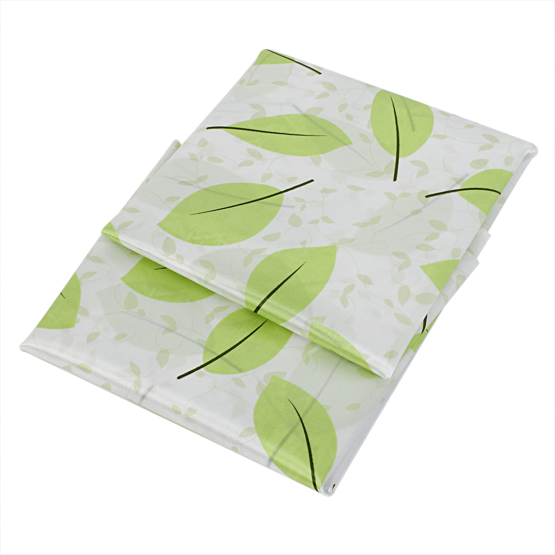 Home Bathroom Fabric Leaves Pattern Shower Curtain 170 x 180cm