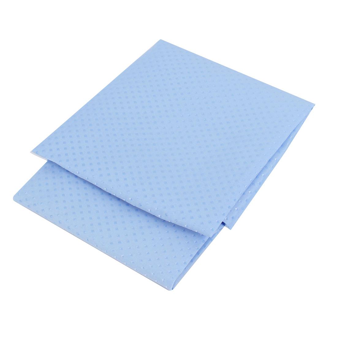 Bathroom Fabric Shower Curtain 180cm x 180cm Blue w 12 Hook Rings