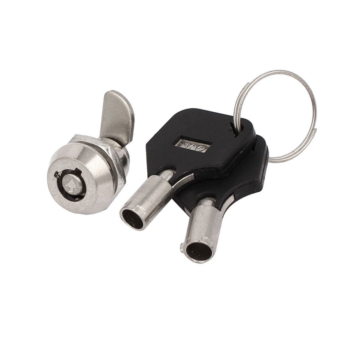 19mmx15mmx18mm Safety Keyed Tubular Cam Lock Locker Silver Tone w 2 Socket Keys