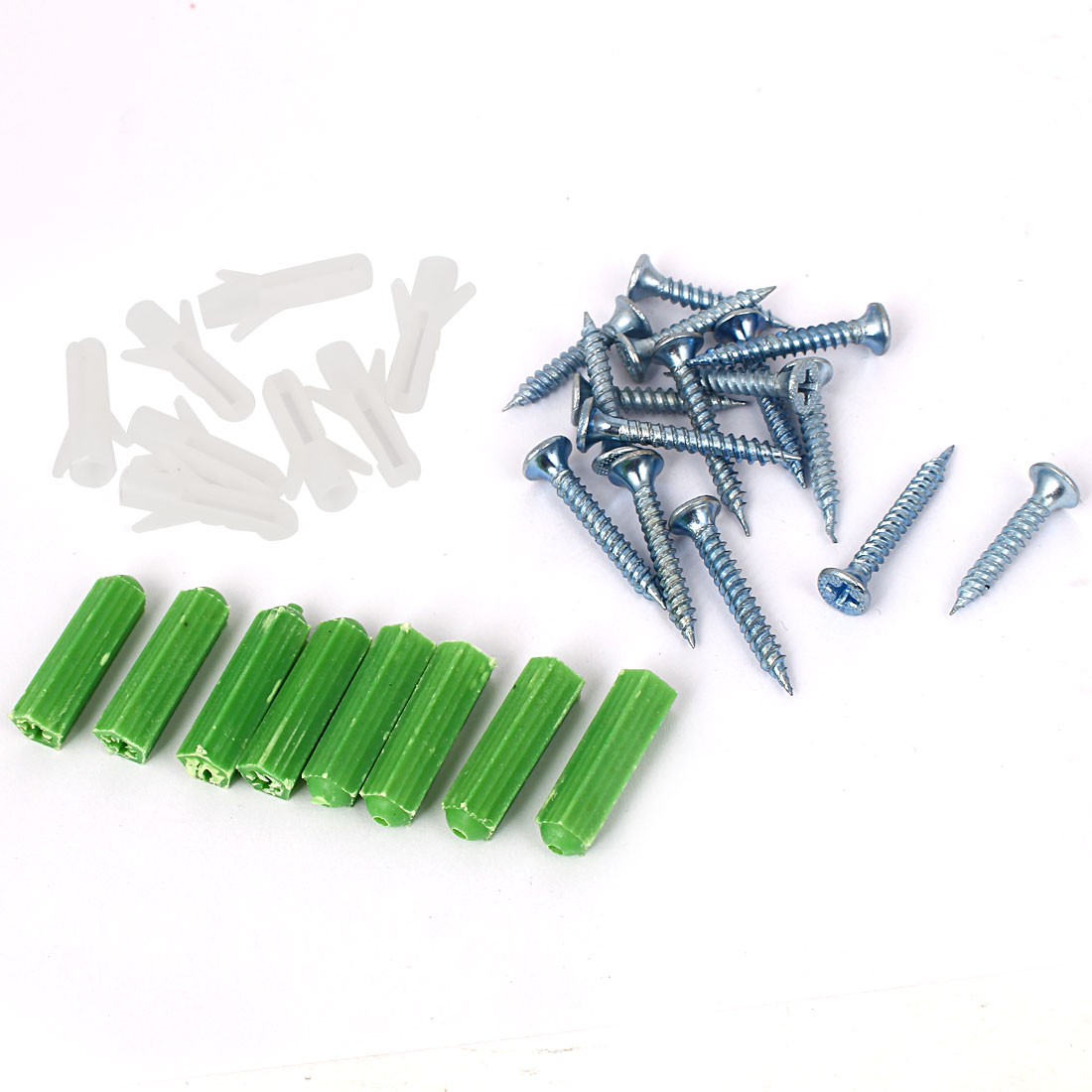 Wooden Furniture Tools Blue Metal Cement Nails Plastic Anchors 32 in 1