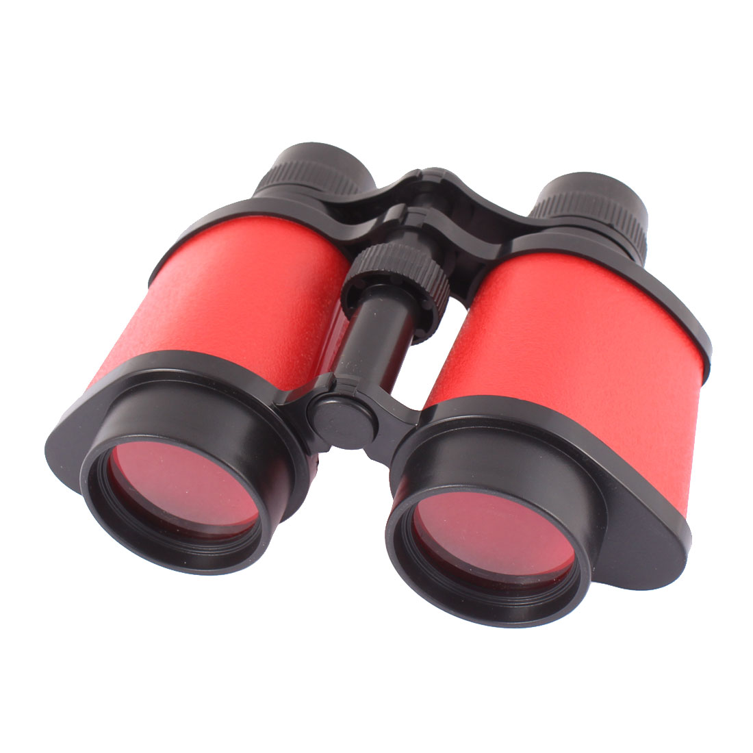 Plastic Transparent Lens Neck Hang String Adjustable Binocular Red