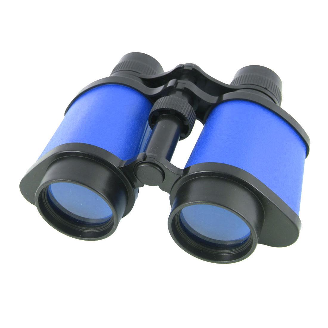 Plastic Transparent Lens Neck Strap Design Adjustable Binocular Blue