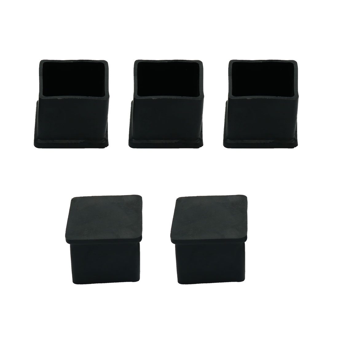 5 Pcs Square Rubber Furniture Table Foot Leg Cover Pad Floor Protector 25mm x 25mm