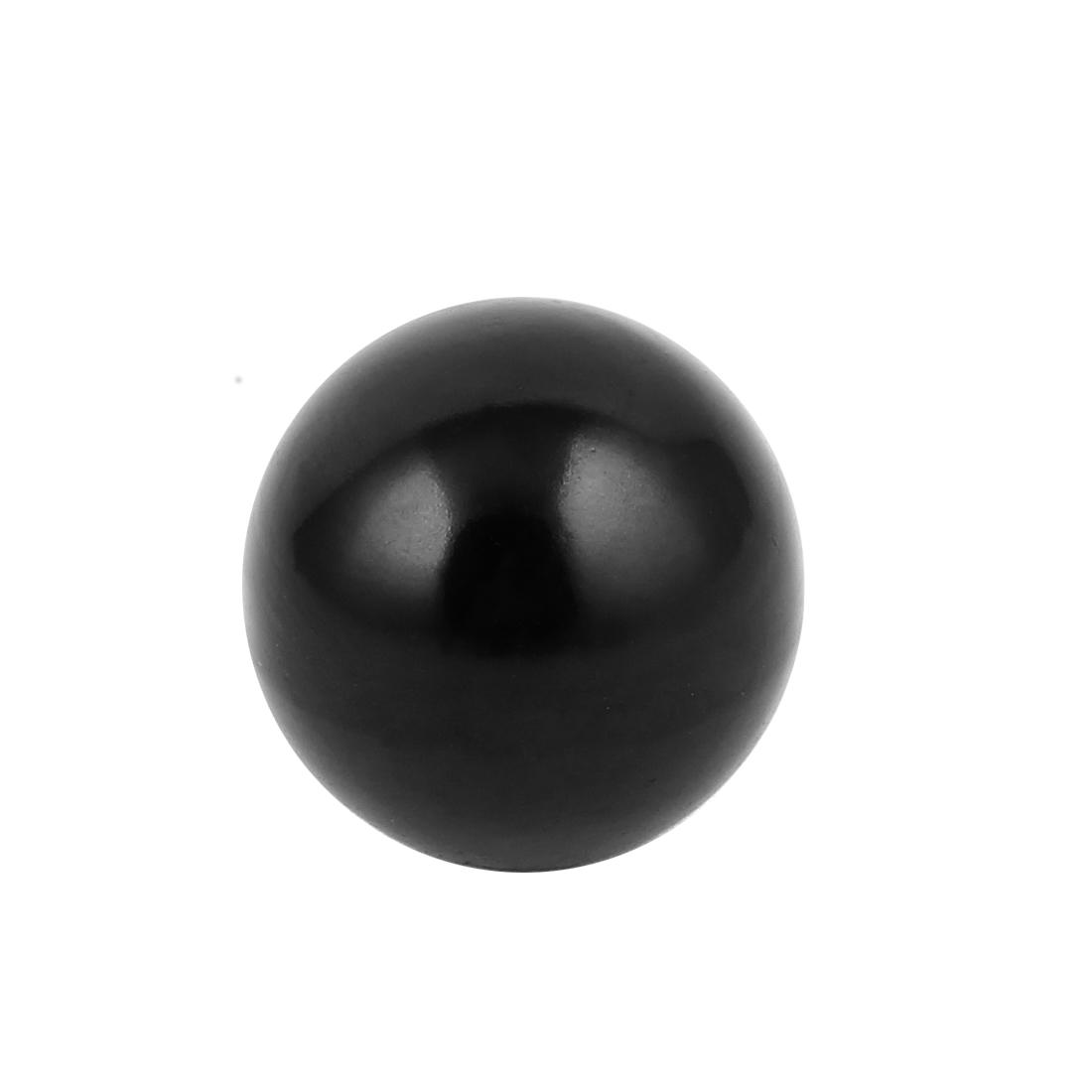 Black Plastic Round 50mm Diameter 12mm Threaded Ball Lever Knob