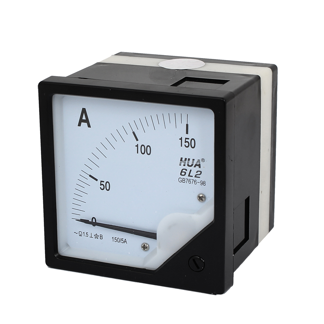 6L2 AC 0-150A Analog Ammeter Current Meter Black White