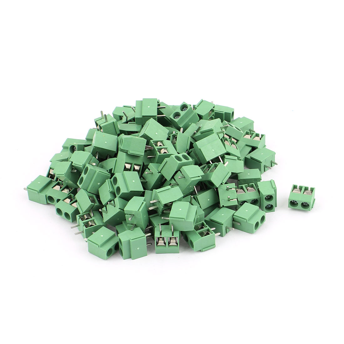 120 Pcs 5.0V 300V 10A 2 positions 1mm Pitch Pluggable Terminal Block Green