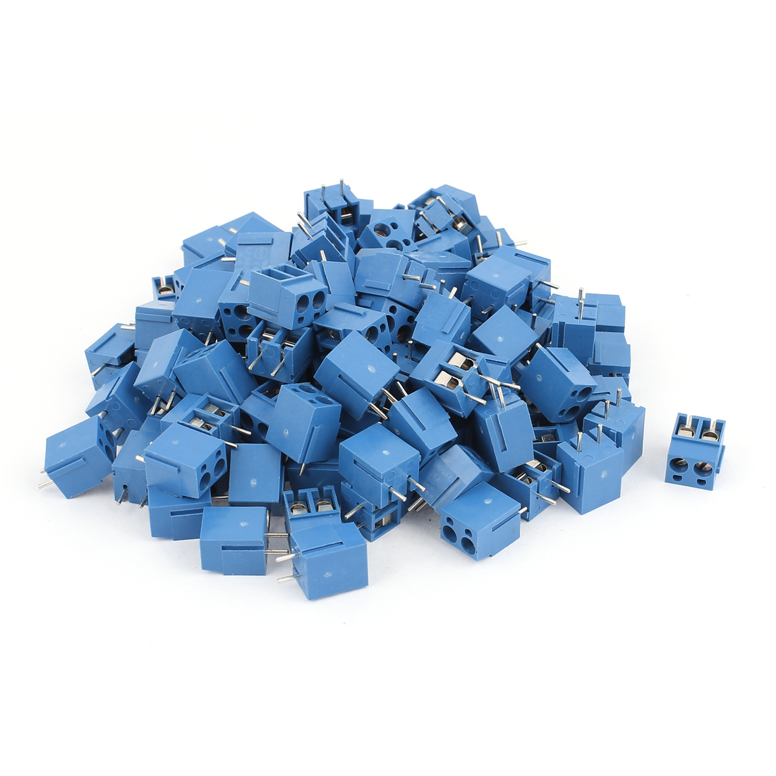 115 Pcs AC300V 16A 2 positions 1mm Pitch Pluggable Terminal Block Blue