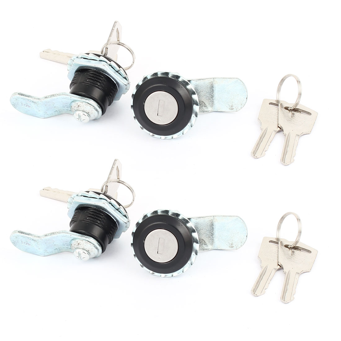 4 Pcs Cam Lock for Security Door Cabinet Drawer Cupboard Locker with 2 Keys