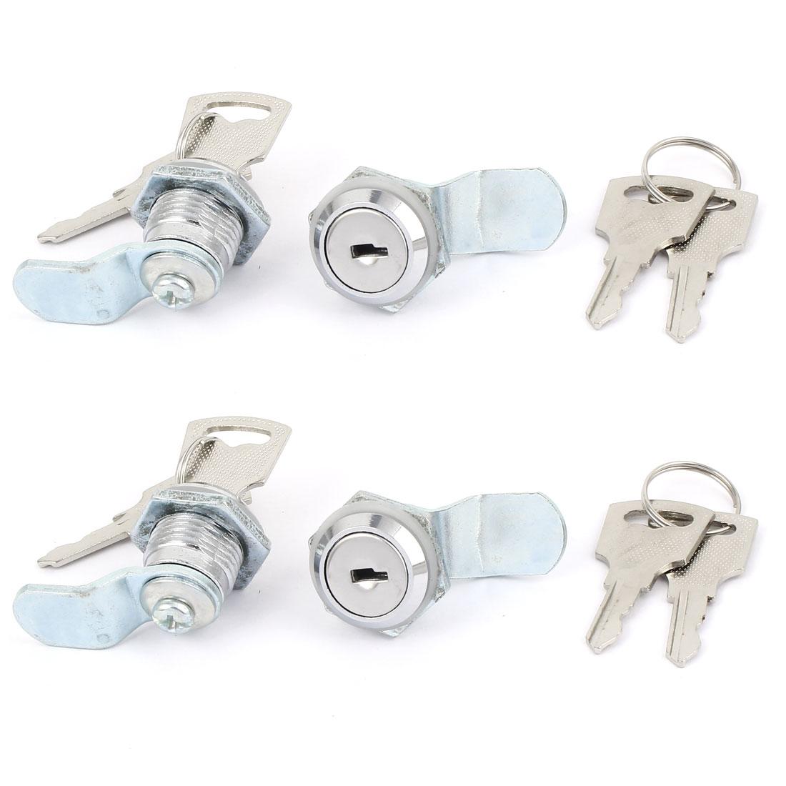 4 Pcs Door Cabinet Cross Shaped Metal Core Cam Lock with 2 Keys