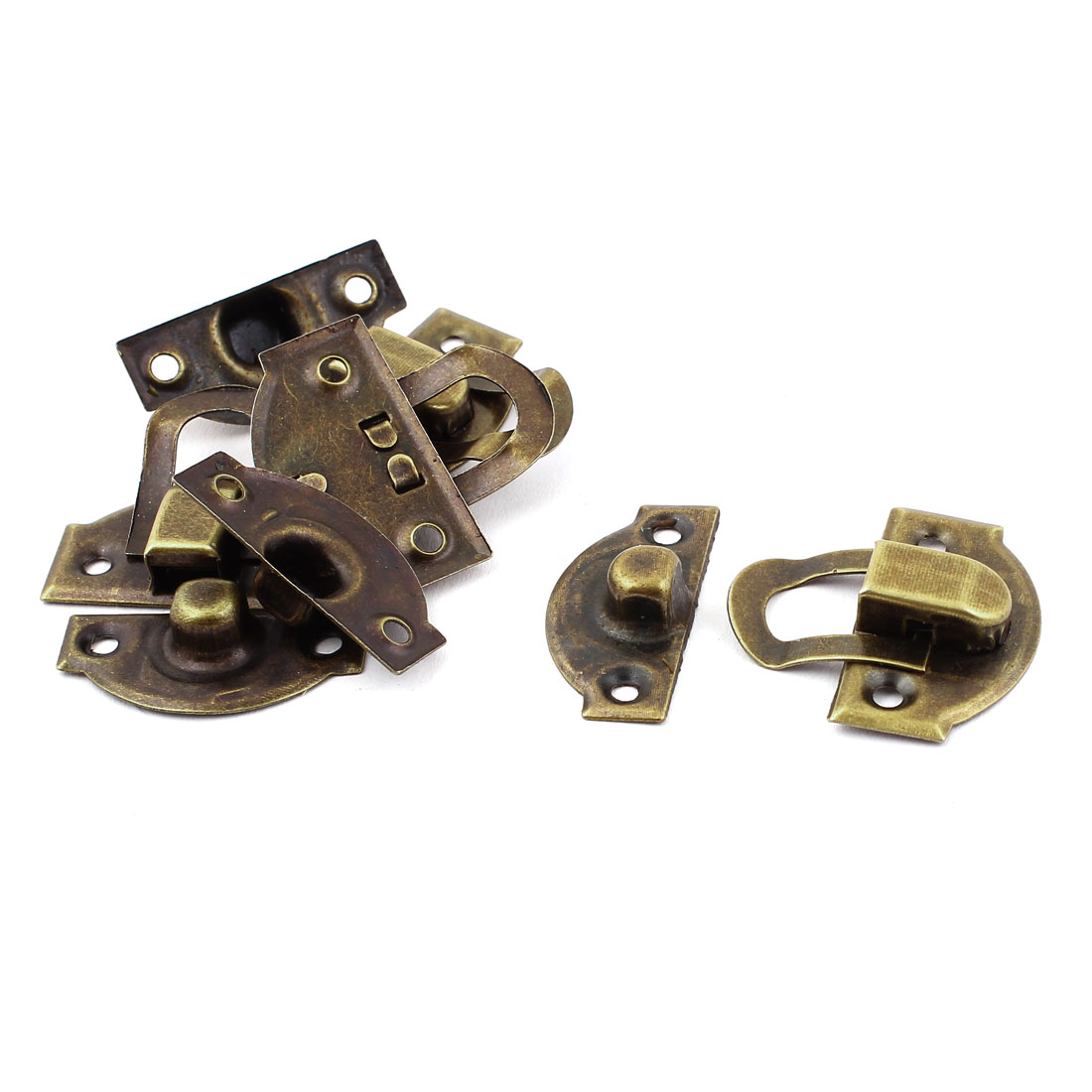 Bronze Tone DIY Jewelry Toolbox Case Box Hasp Lock Latch 4PCS