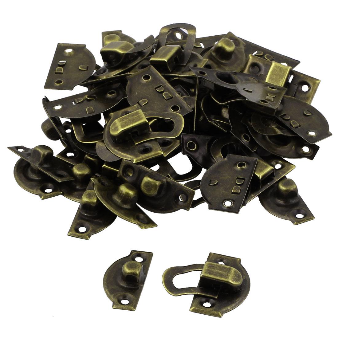 Jewelry Case Box Drawer Hasp Lock Latch Bronze Tone 23PCS