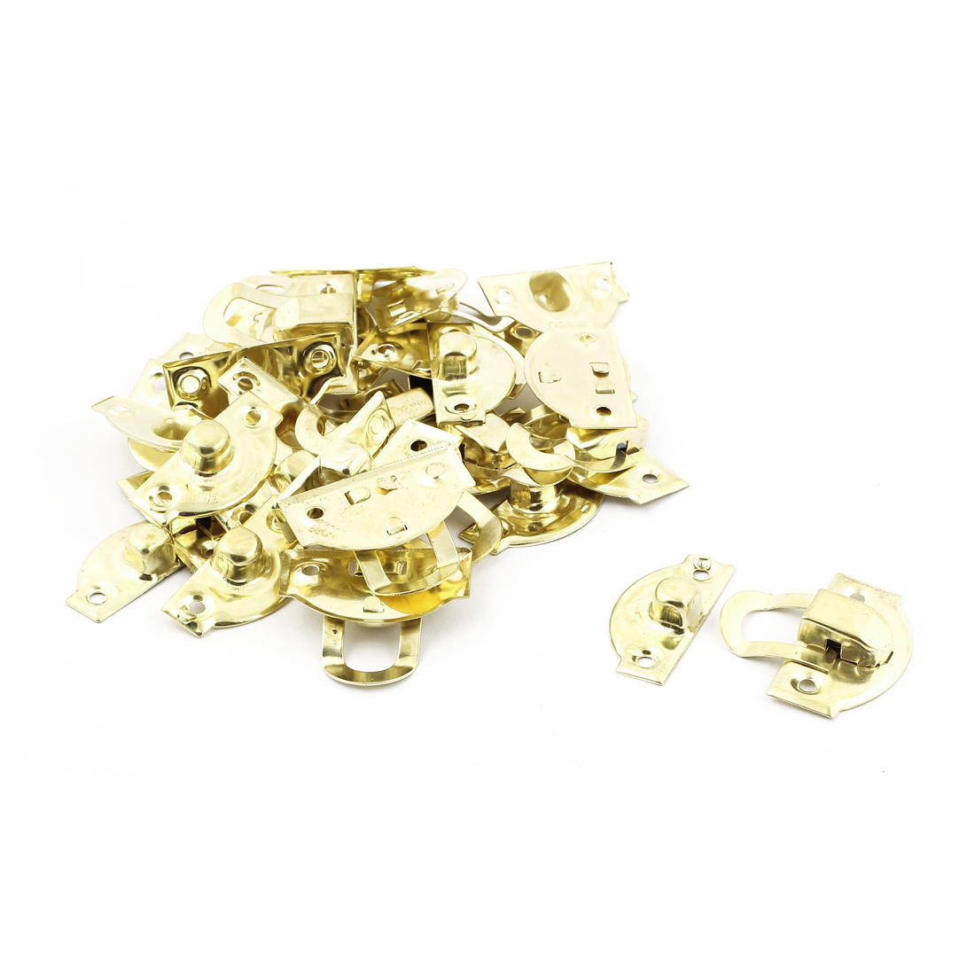 Decorative Jewelry Box Gift Case Hasp Latch Lock Gold Tone 15PCS