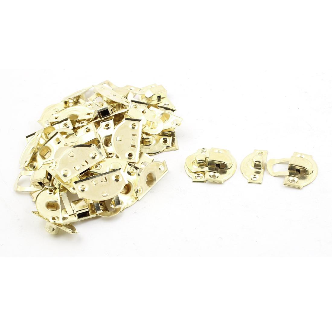 Jewelry Case Box Decor Suitcase Hasp Lock Latch Gold Tone 23PCS