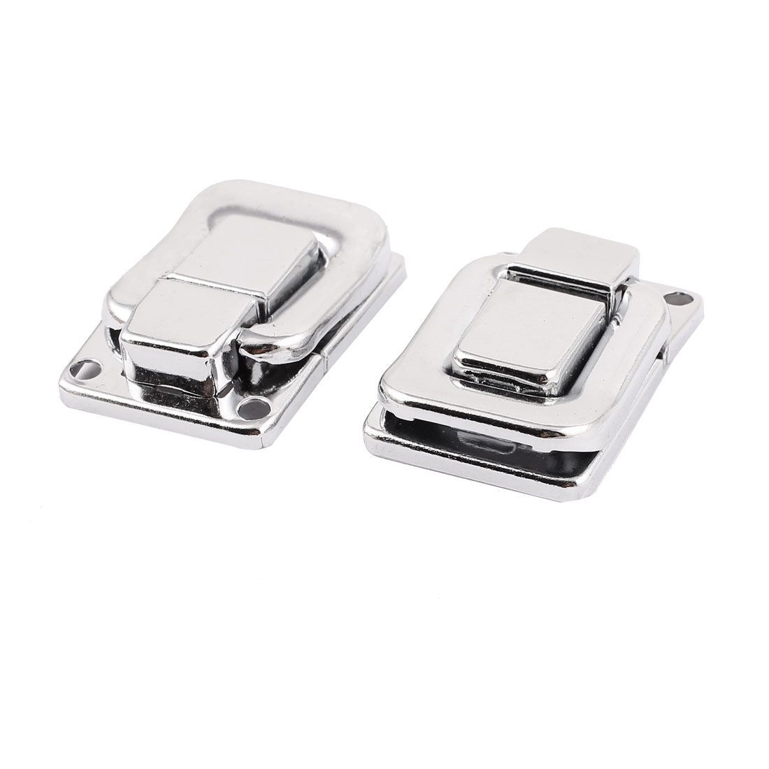 40mm x 27mm Drawbolt Closure Jewelery Box Guitar Case Suitcase Latch Silver Tone 2PCS