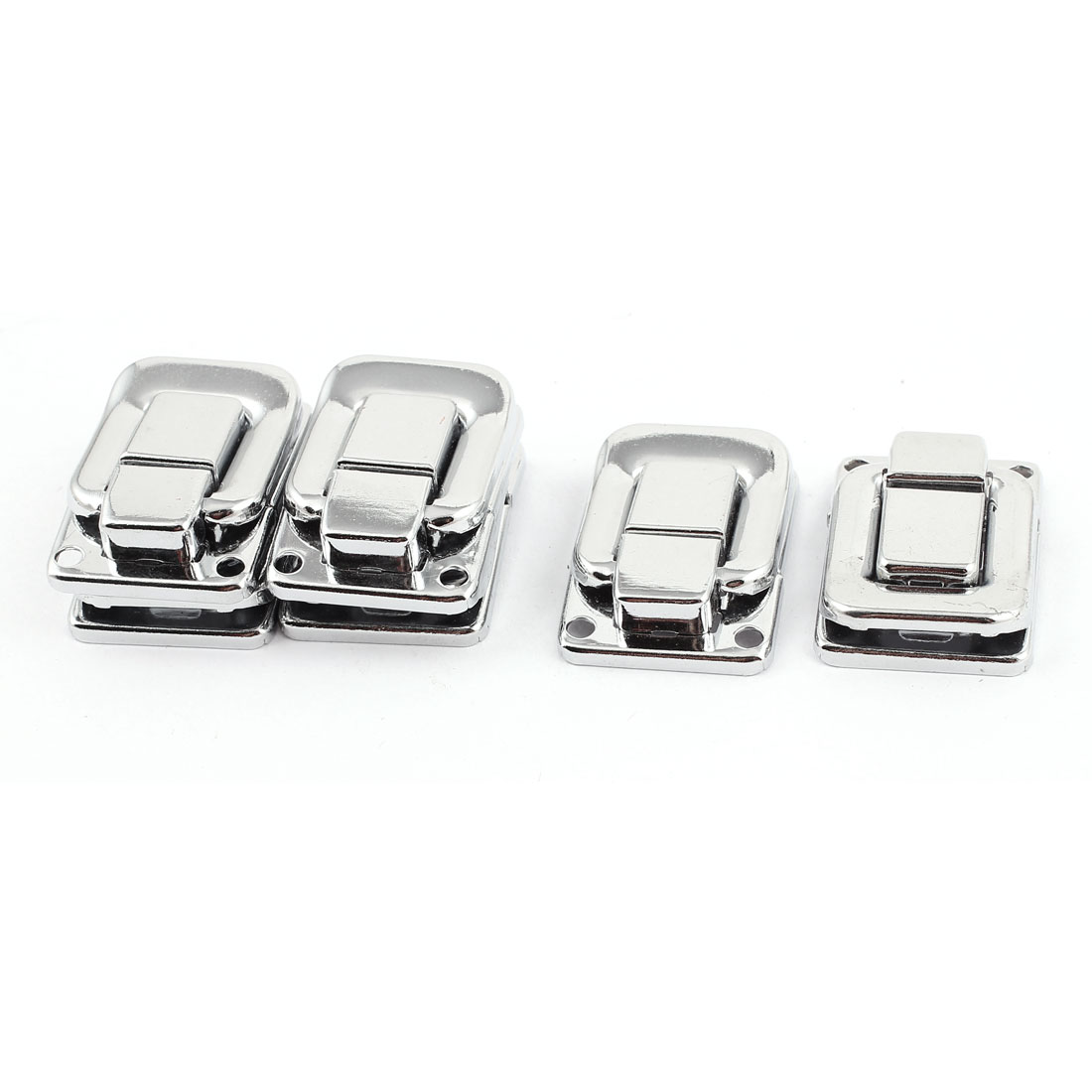 40mm x 27mm Jewelery Box Guitar Case Suitcase Latch Silver Tone 6PCS