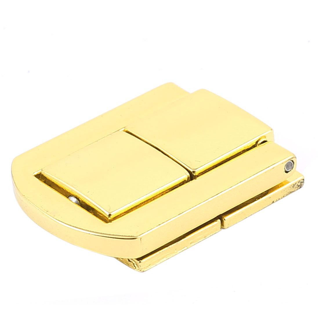 30mm x 25mm Latch Jewelery Box Guitar Case Suitcase Drawbolt Closure Gold Tone