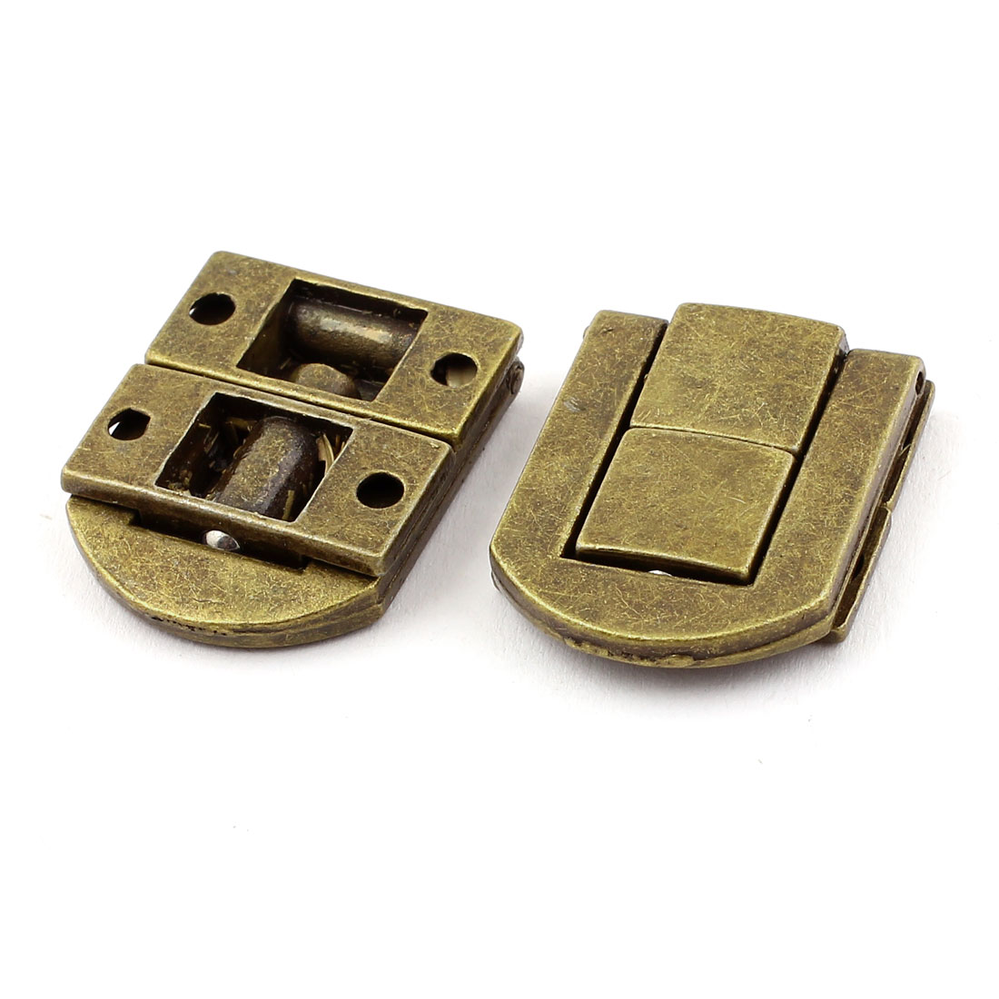 Guitar Case Suitcase Jewelry Box Drawbolt Closure Latch Bronze Tone 2PCS