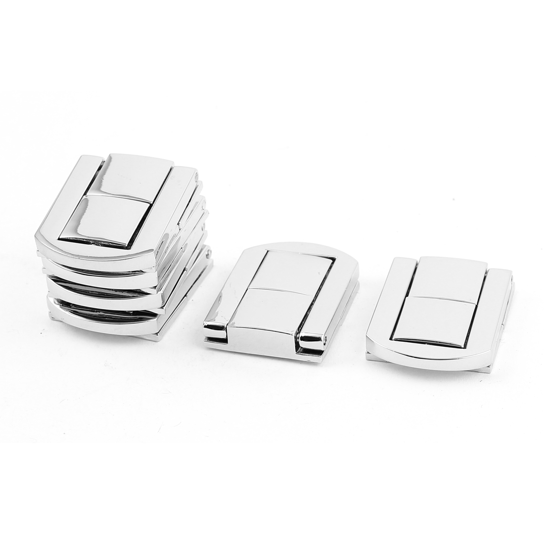 30mm x 25mm Latch Suitcase Box Drawbolt Closure Silver Tone 6PCS