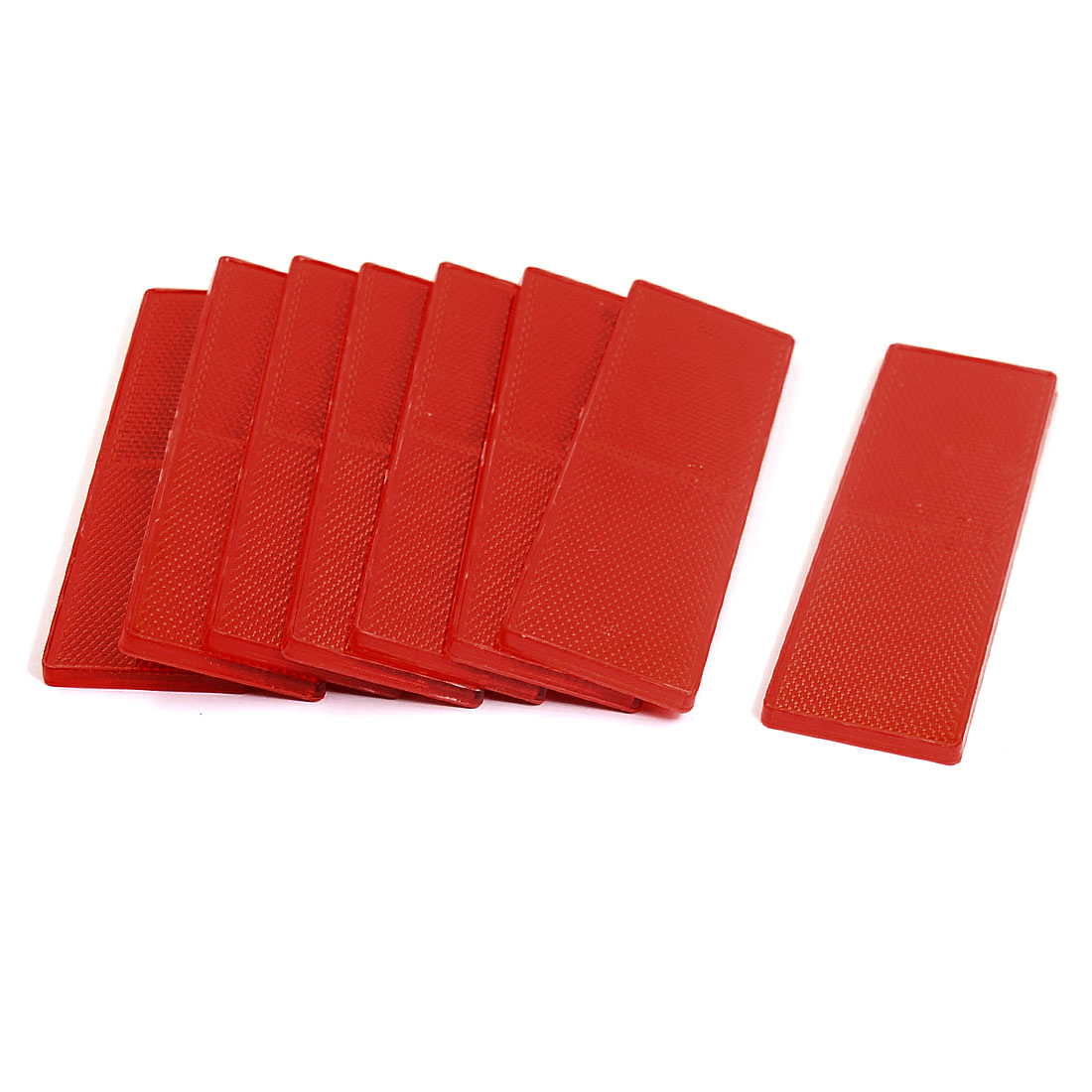 Motorcycle Truck Vehicle Rectangle Reflector Tail Brake Marker Red 8PCS