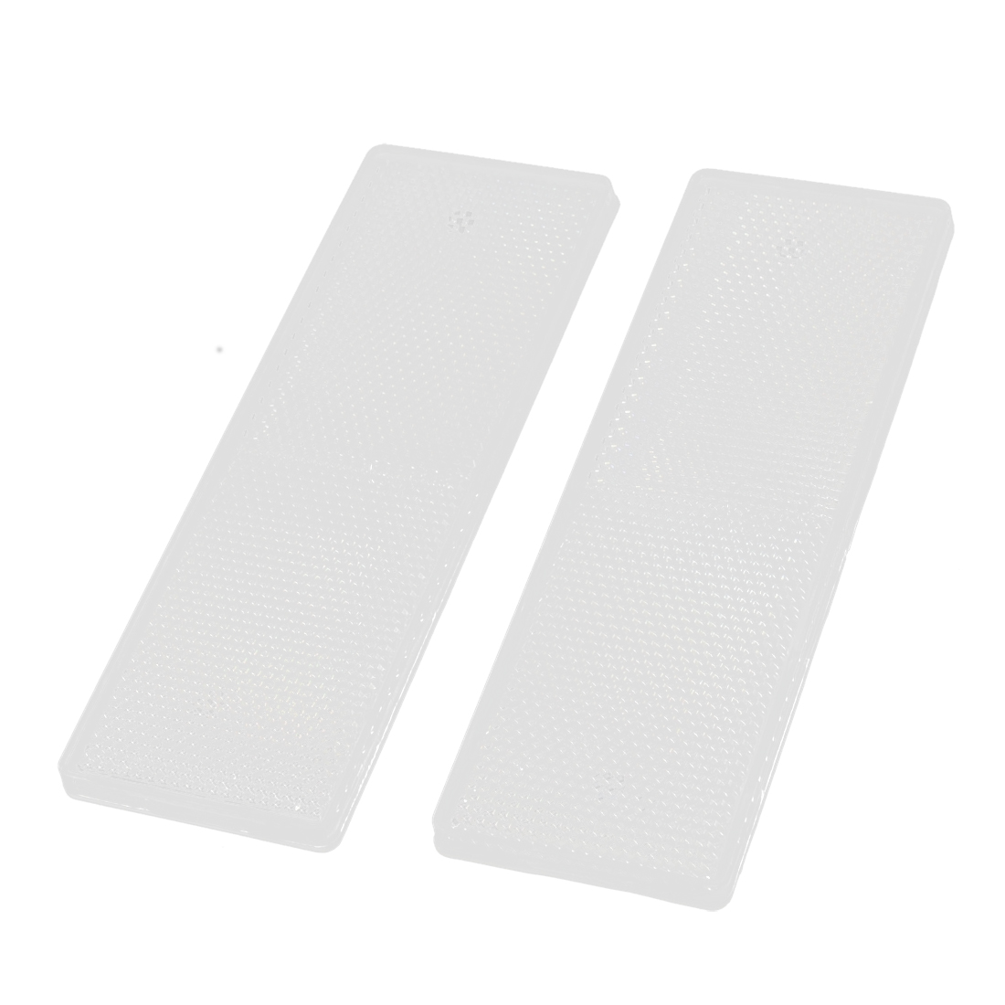 Plastic Rectangle Reflective Warning Reflector White 2PCS for Vehicle Safety