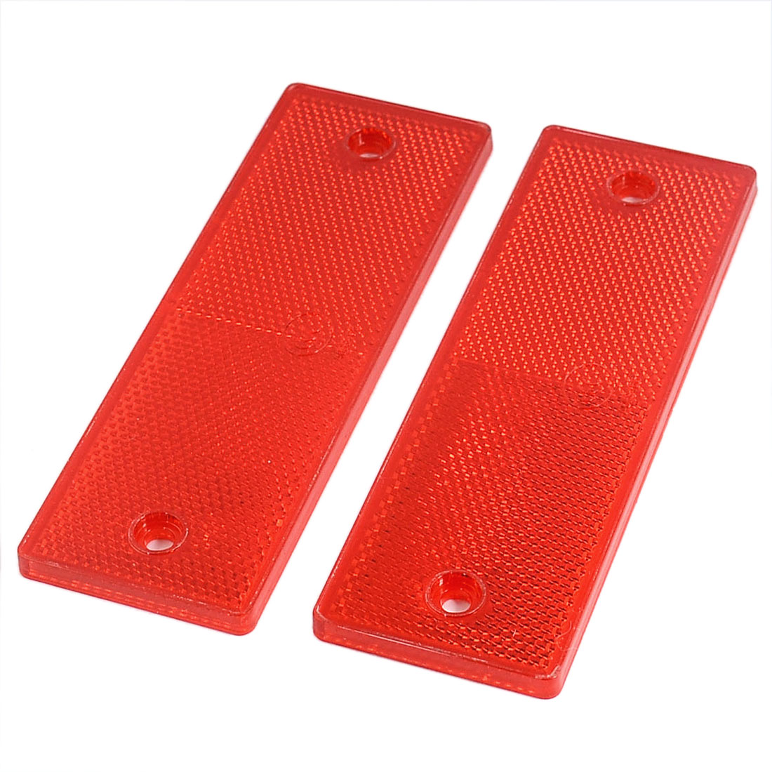 Car Auto Rectangle Safety Brake Reflector Caution Warning Plate Red 2PCS