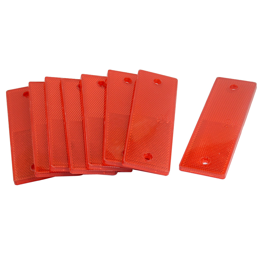 Plastic Rectangle Reflective Warning Plate Reflector Red 8PCS for Car Truck Safety