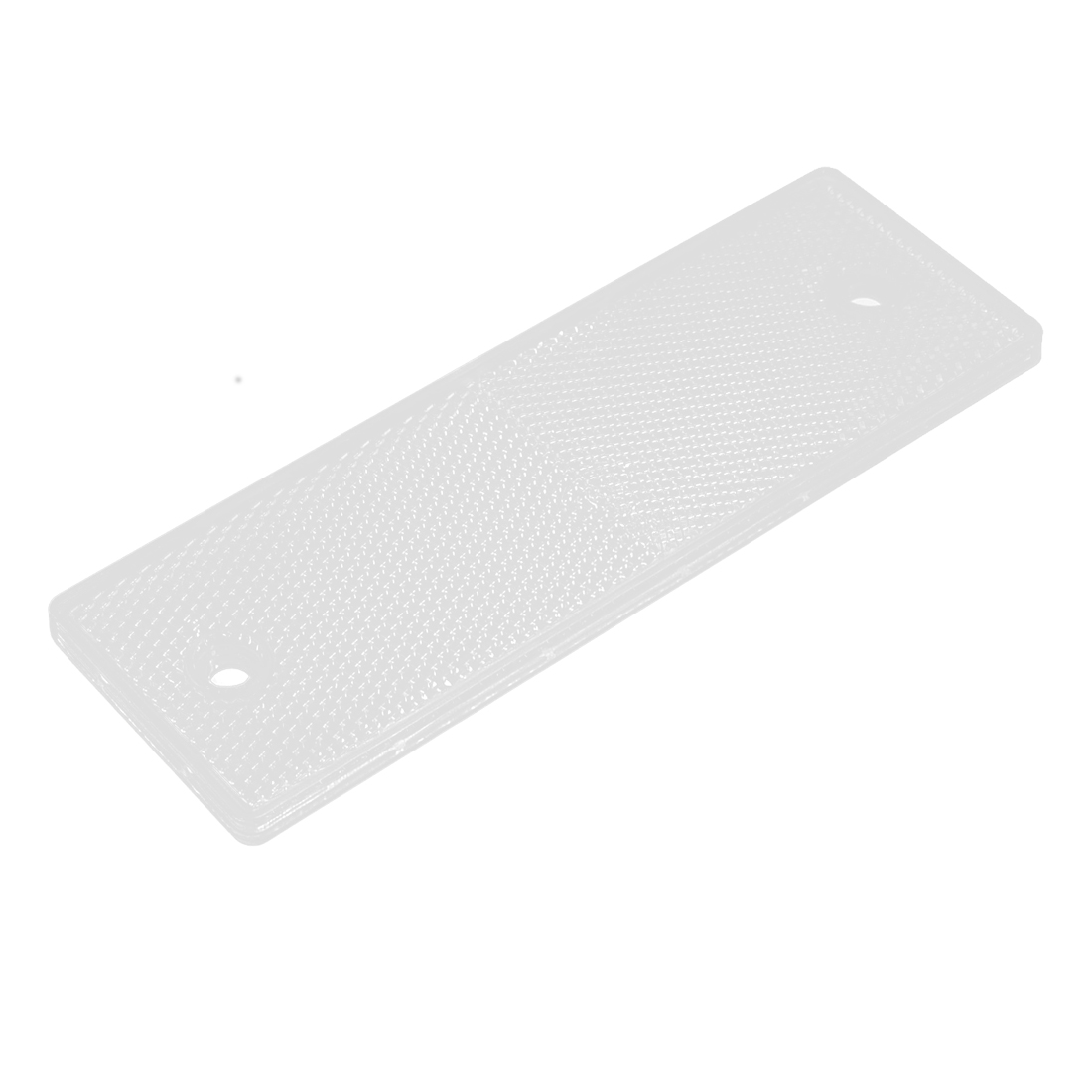 Motorcycle Car Truck Rectangle Safety Brake Reflector Caution Warning Plate White